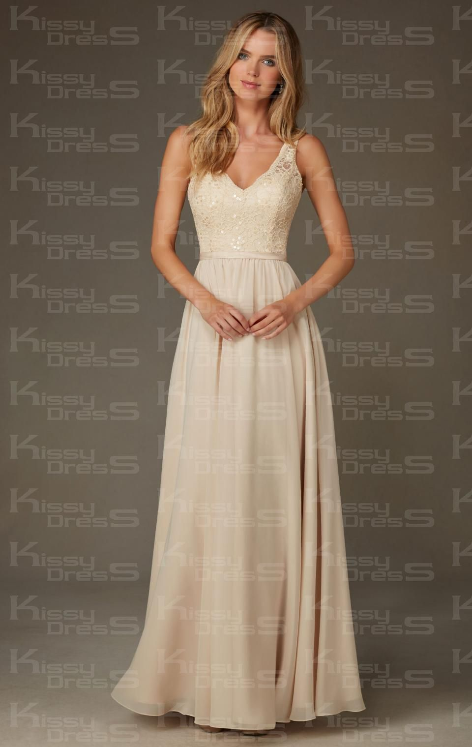 Kissybridesmaidsunique champagne long bridesmaid dress kissybridesmaidsunique champagne long bridesmaid dress bnncl0001 ombrellifo Image collections