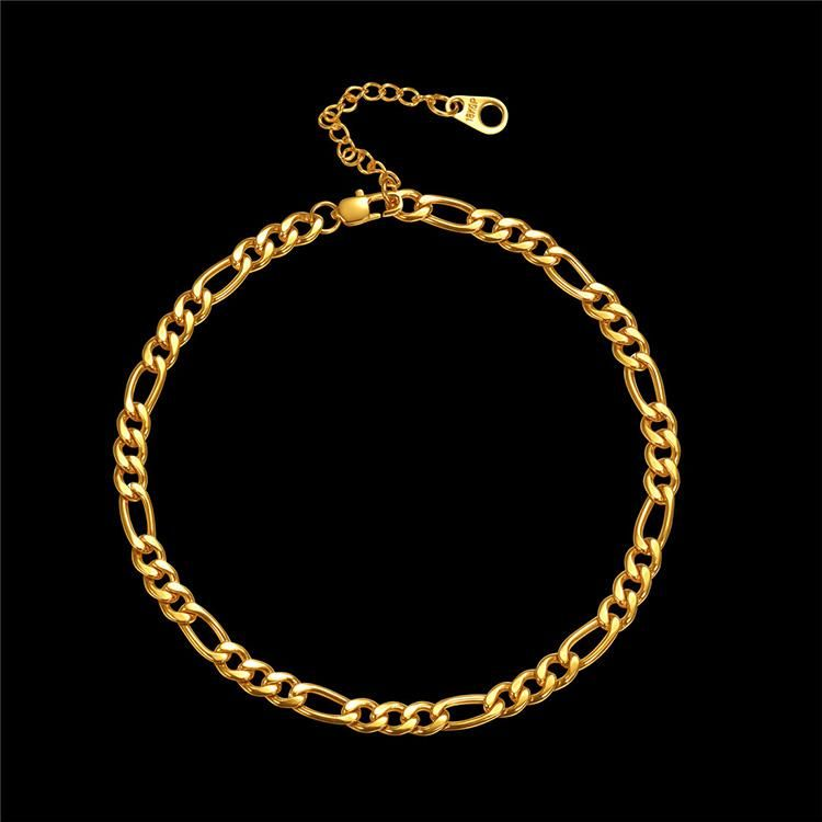 Men Woman 18K Gold Filled Figaro Cuban Snake Flat Link Chain Necklace Jewelry