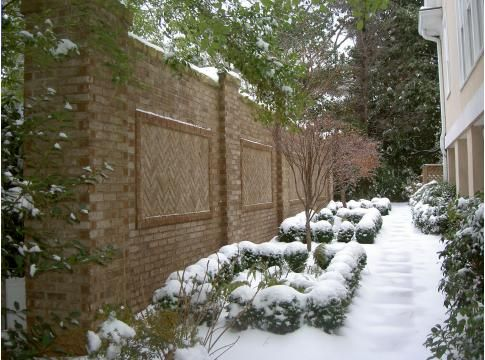 Beautiful brick wall for a privacy fence Ideas for