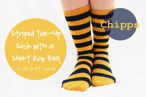 Free Knitting Pattern Chipps Toe Up Striped Sock With A Short Row