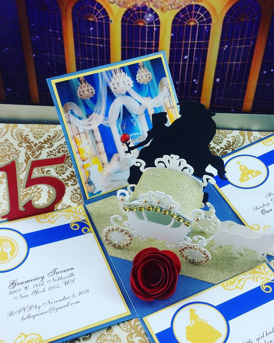 Beauty And The Beast Unique Couple Tattoos: Cinderella Themed Invitations, Beauty And The Beast Theme