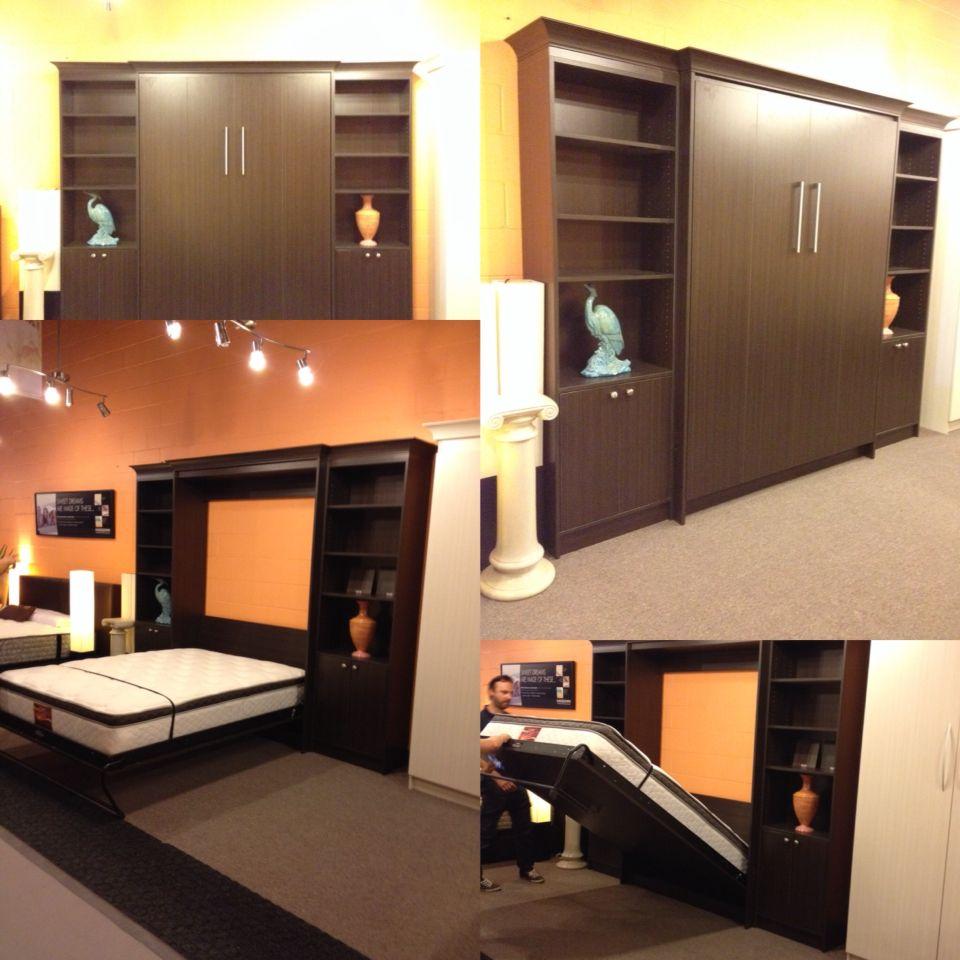 Stellar Home Furniture Shaker Queen Wall Bed Overstock