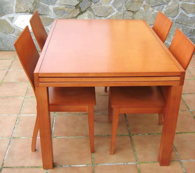 Preciosa mesa de comedor extensible de madera maciza ...