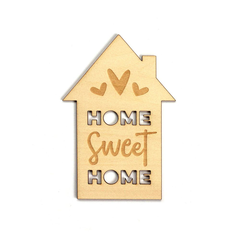 Home Sweet Home Wood Veneer Great For Scrapbook Layouts