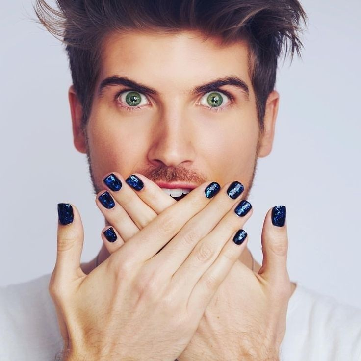 Joey Graceffa | Men\'s Mani Pedis | Pinterest | Uñas pintadas y Pintar