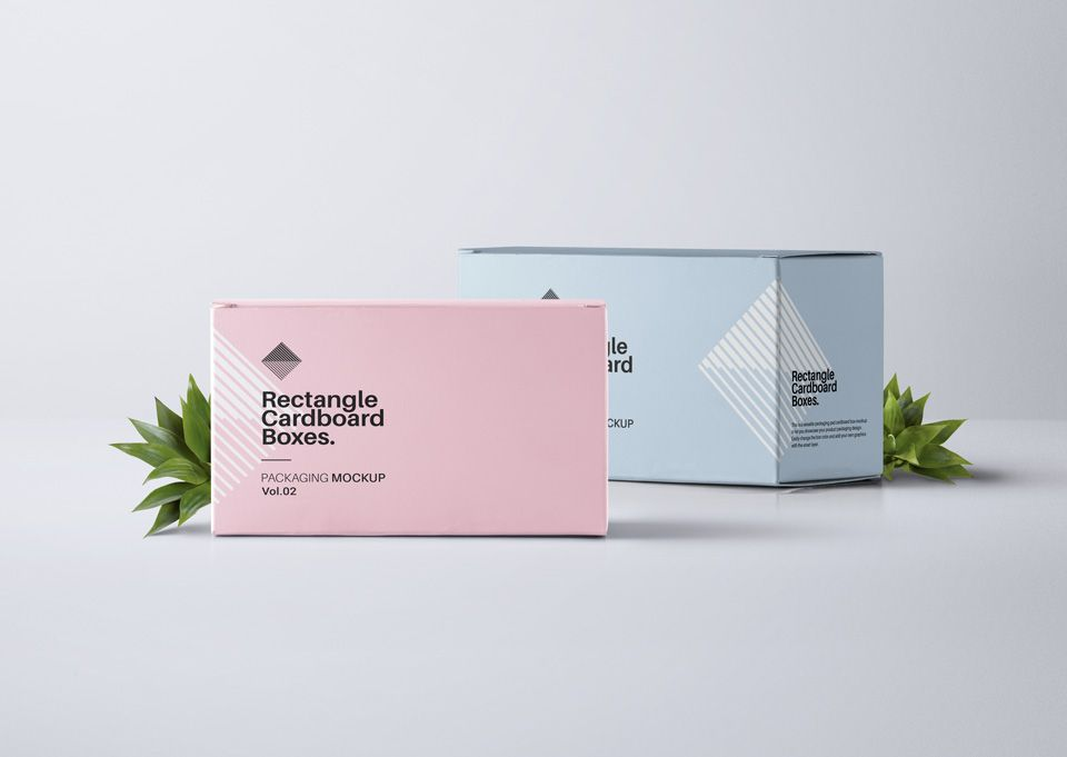 Download This Is The Second Volume Of Our Rectangular Packaging Psd Cardboard Box Mockup With A Different Perspective Packaging Mockup Box Mockup Photoshop Mockup Free