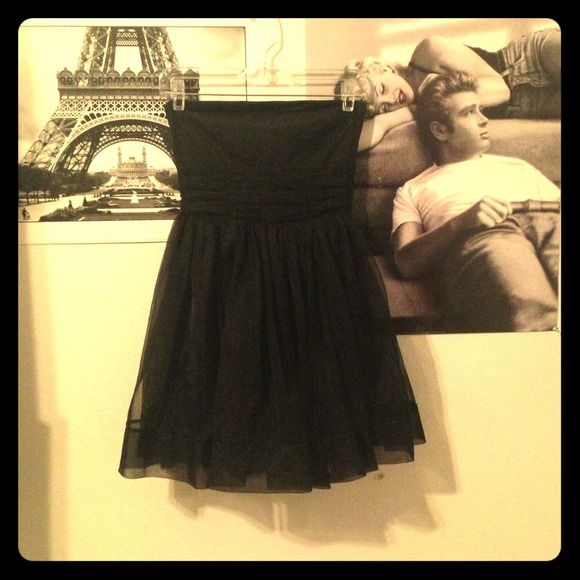 "Spotted while shopping on Poshmark: ""Black Strapless Dress""! #poshmark #fashion #shopping #style #H"