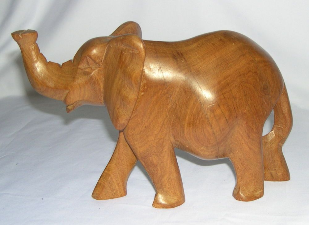 African elephant wood carving sculpture from kenya