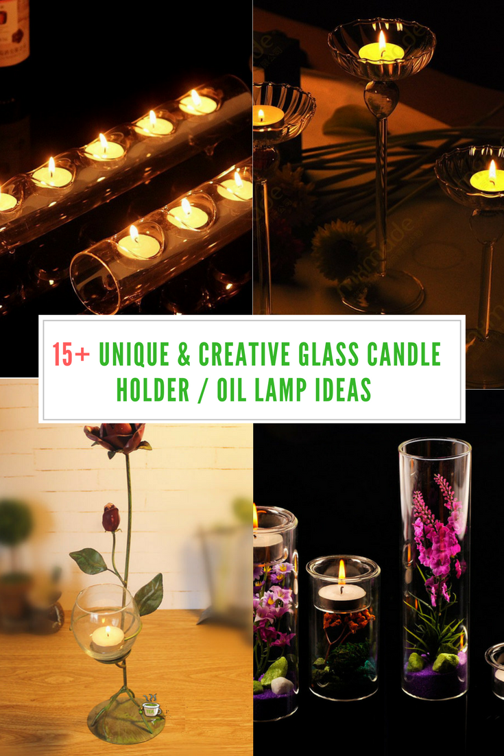 15 Unique Creative Glass Candle Holder Oil Lamp Ideas Flower Candle Holder Candle Holders Wedding Hanging Candle Holder