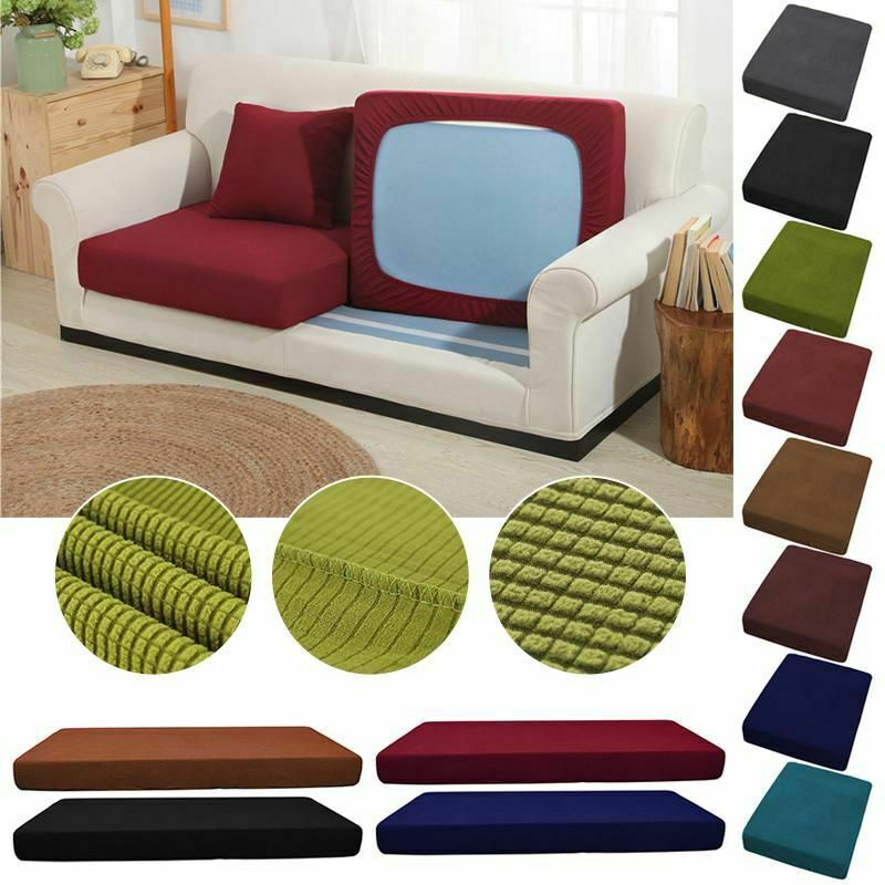 Sofa Stretchy 1 3 Seats Square Cushion Cover Couch Slip Covers Protector Fabric Sofa Slipcover So In 2020 Couch Cushion Covers Cushions On Sofa Seat Cushion Covers