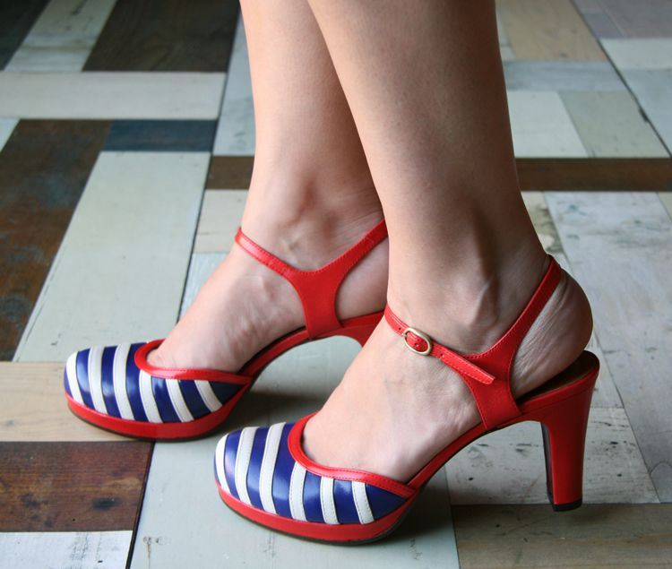 I thought I had seen every red white and blue shoe under the sun... this is new and cra cra adorbs