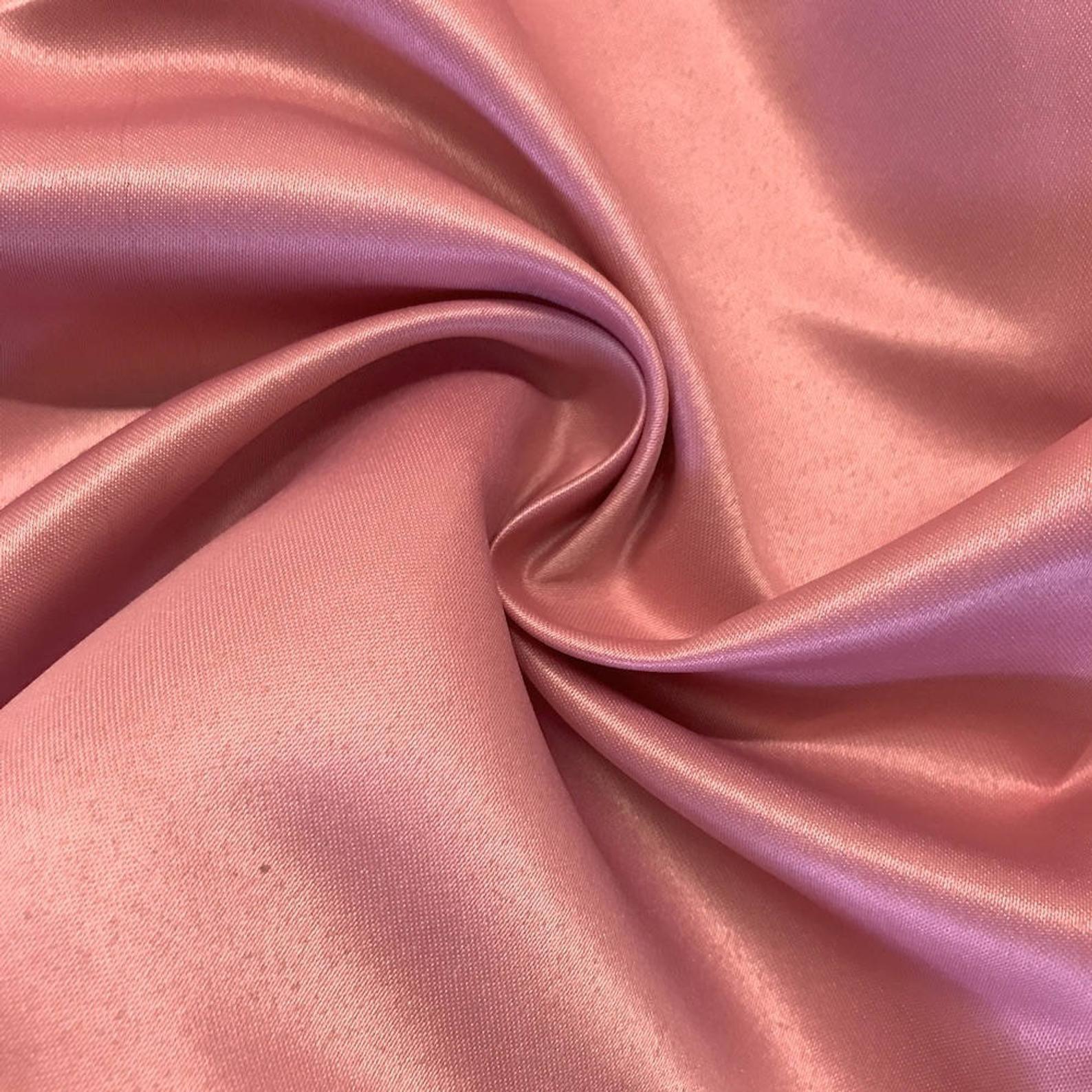 """Dusty Rose 10 Yards Shiny Bridal Satin Fabric 60/"""""""