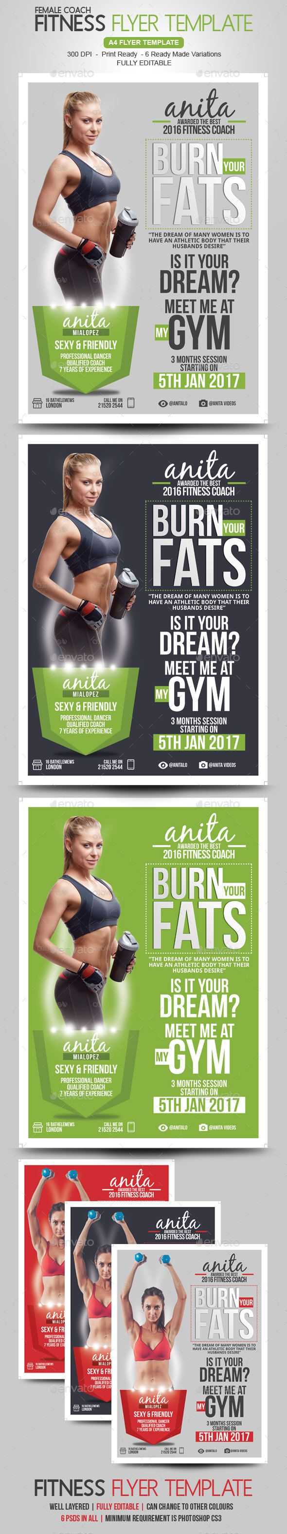 Poster design for coaching institute - Fitness Coach Flyer Design Template Corporate Flyers Design Template Psd Download Here Https