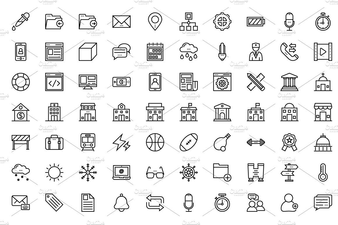 175 User Interface Line Icons User Interface Icon