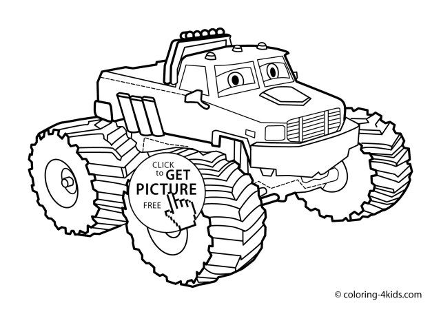 Brilliant Picture Of Monster Trucks Coloring Pages Printable