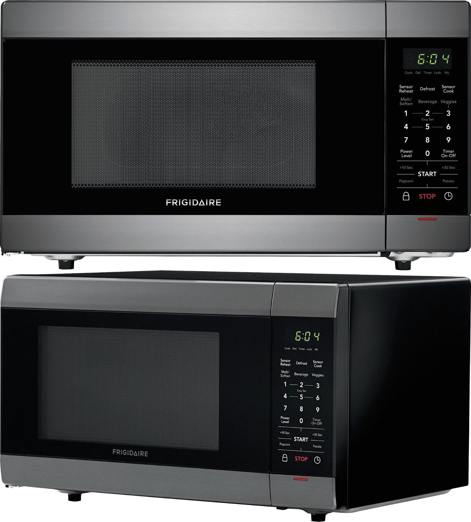 Microwave Ovens 150140 Frigidaire 1 4 Cu Ft Black Stainless Steel