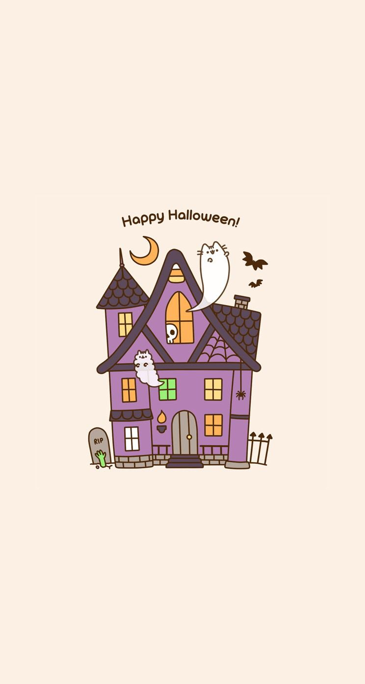 pusheen wallpaper phone background halloween