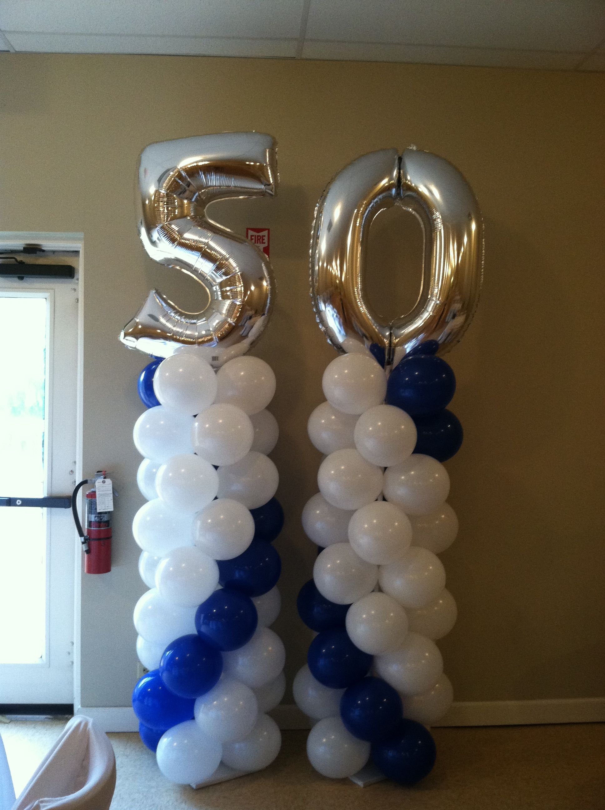 50th birthday column balloon decorations pinterest for 50th birthday decoration packages
