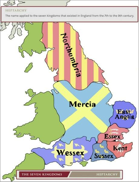 The seven kingdom / heptarchy | Game Of Thrones | Uk history ... on map of england 11th century, map wessex england and vikings, map of britain in the 5th century, map of england 10th century, map of british isles 9th century, map of england 13th century, map of england 19th century, map of scandinavia in the 7th century, map of england 15th century,