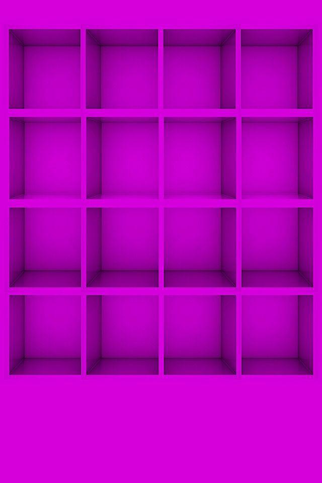 Shelves Unicolor Icons Purple Simple Minimalistic Hd