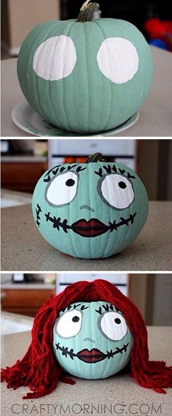 Sally Skellington Non Carve Citrouille pour Halloween