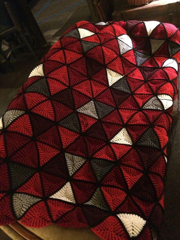 Triangles Afghan By Ellen Gormley | use triangle motifs to add ...