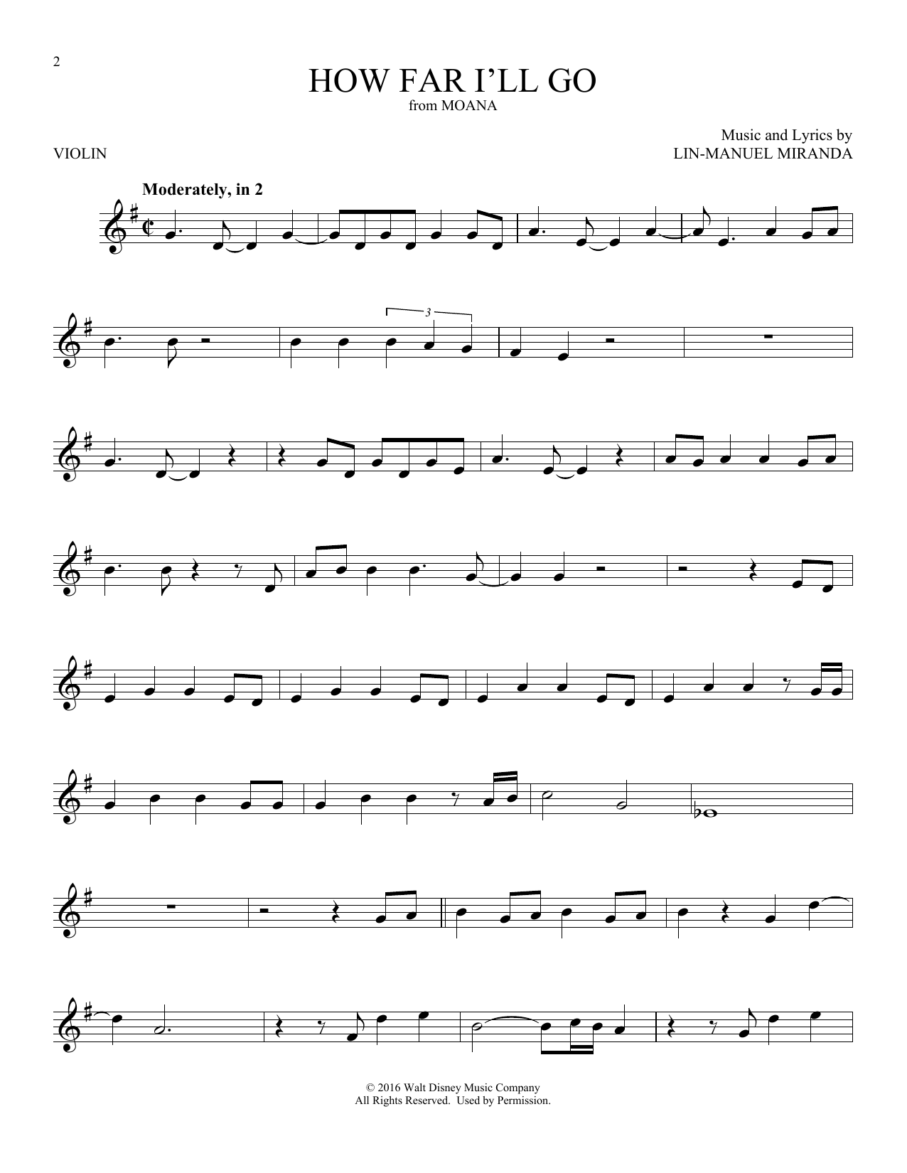 How Far Ill Go Sheet Music Piano Chords Notes By Alessia Cara