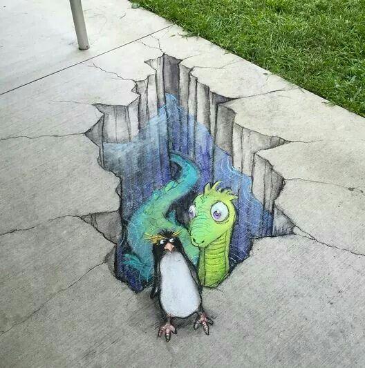 Chalk Art By David Zinn David Zinn In 2019 David Zinn Street