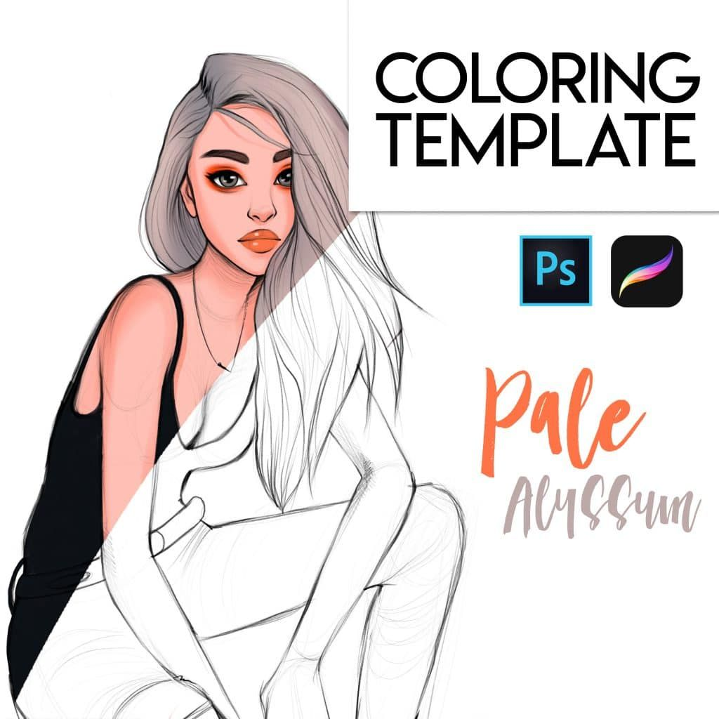 Filaree Coloring Page Pdf Procreate And Psd Alicja Prints In 2020 Procreate Digital Art Tutorial Body Reference Drawing