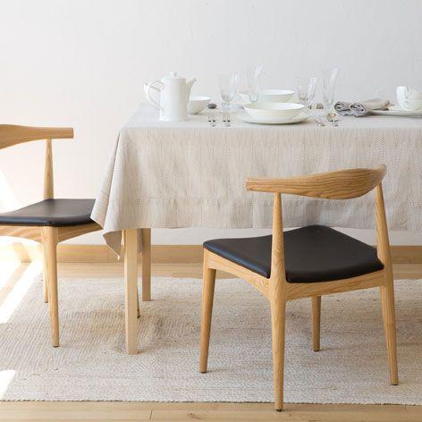 Basic-tischdecke aus weissem leinen Tischdecken, Servietten und