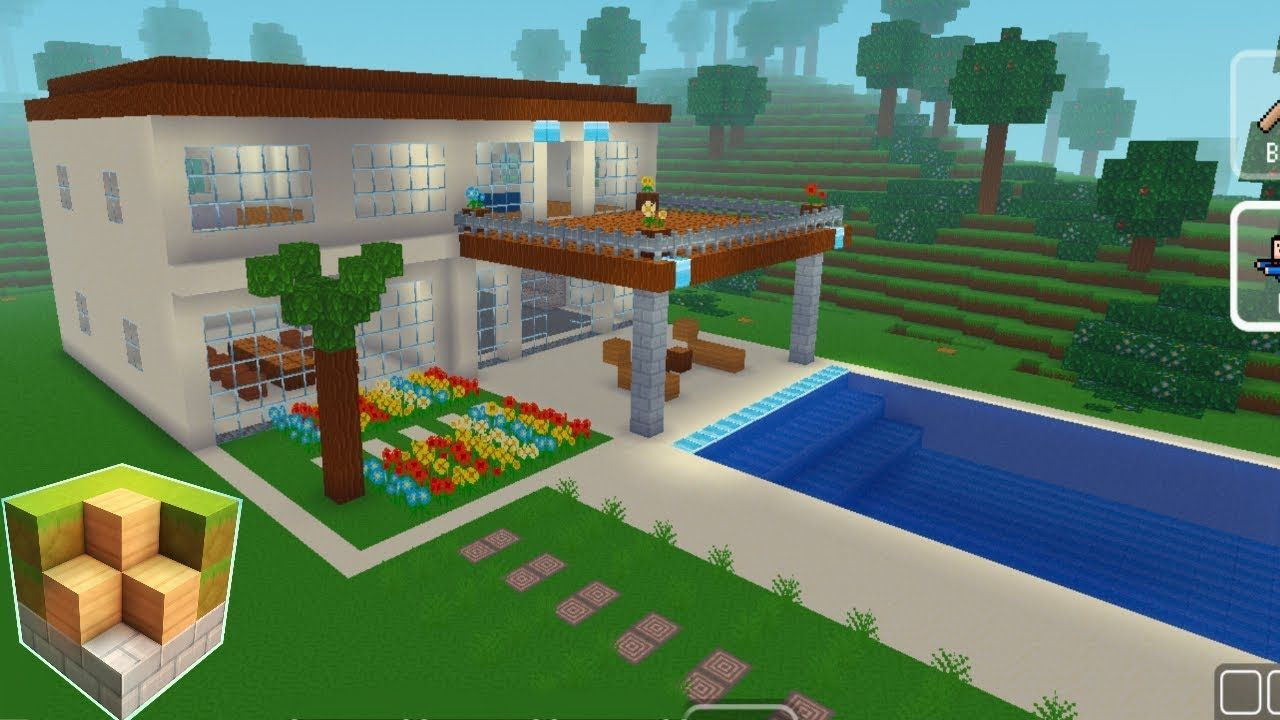 Block Craft 3d Mobile Gameplay Easy Modern House Block Craft