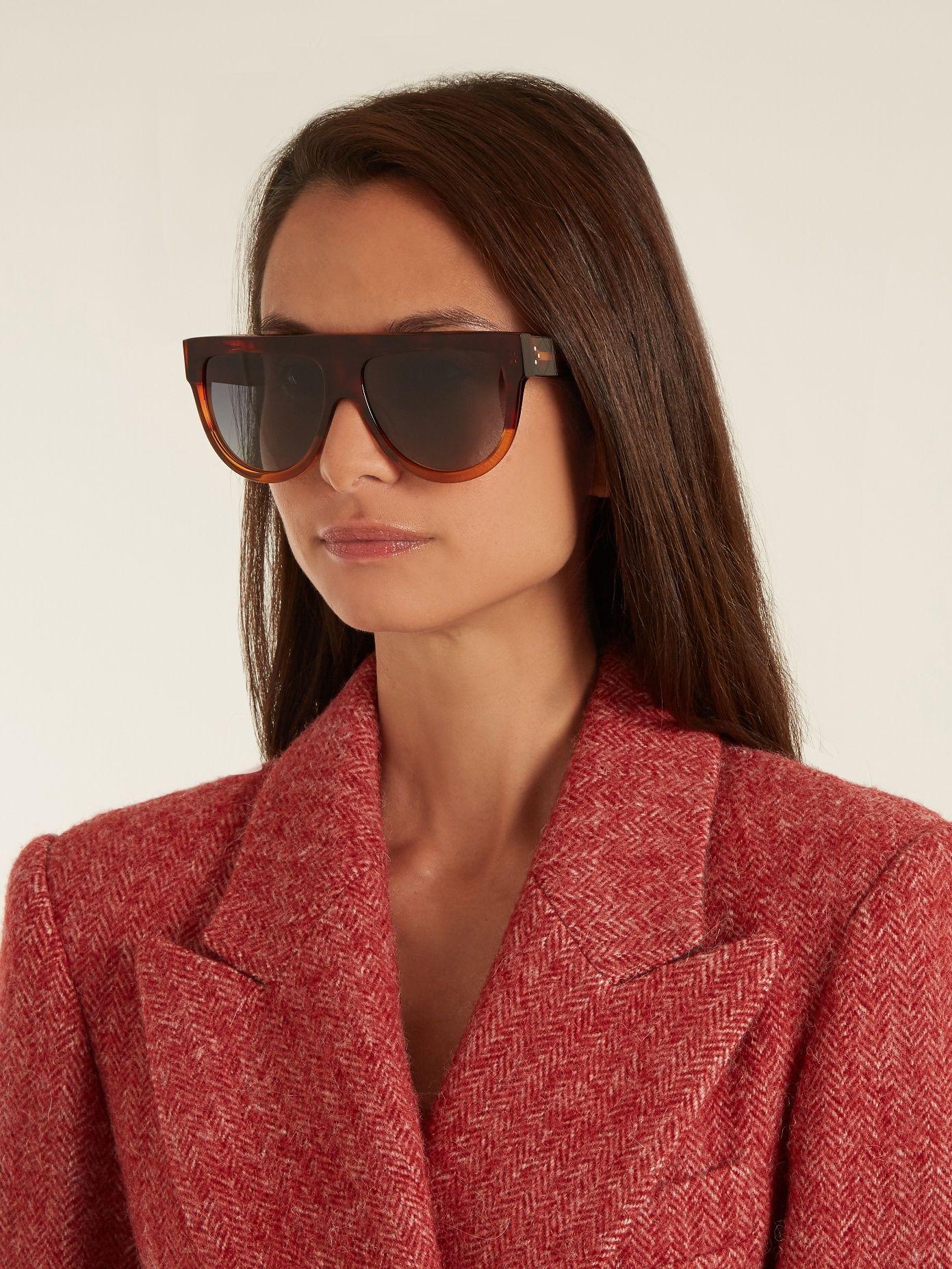 22b2e75cf980 Shadow aviator D-frame acetate sunglasses