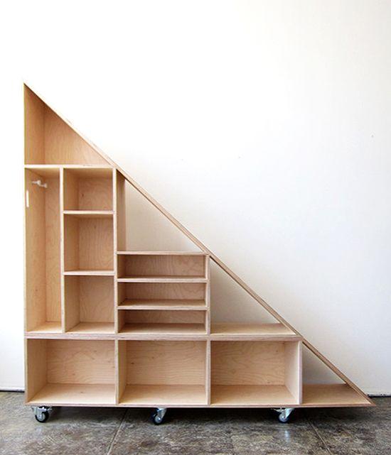 Build Diy Perfect For Under The Unfinished Basement Steps Sous Escalier Mobilier De Salon Et Etageres Sous Escalier