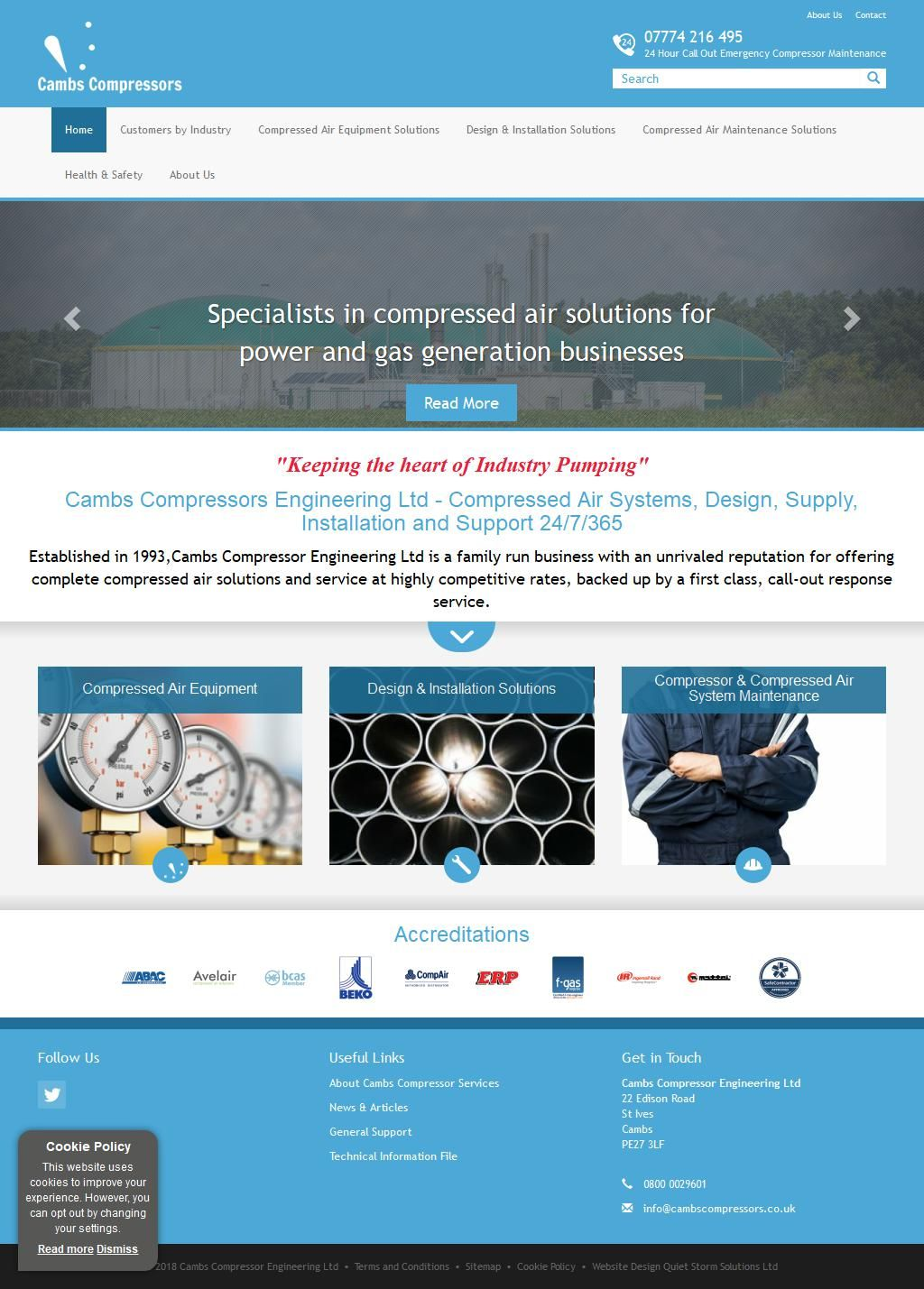 Cambs Compressor Engineering Ltd Air Conditioning Services