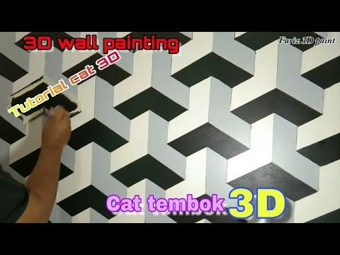 Tutorial Cat Dinding 3 Dimensi Simple 3d Wall Painting Cat Tembok 3d Unik Motif Balok Youtube Di 2020 Painting Dinding Seni Dinding