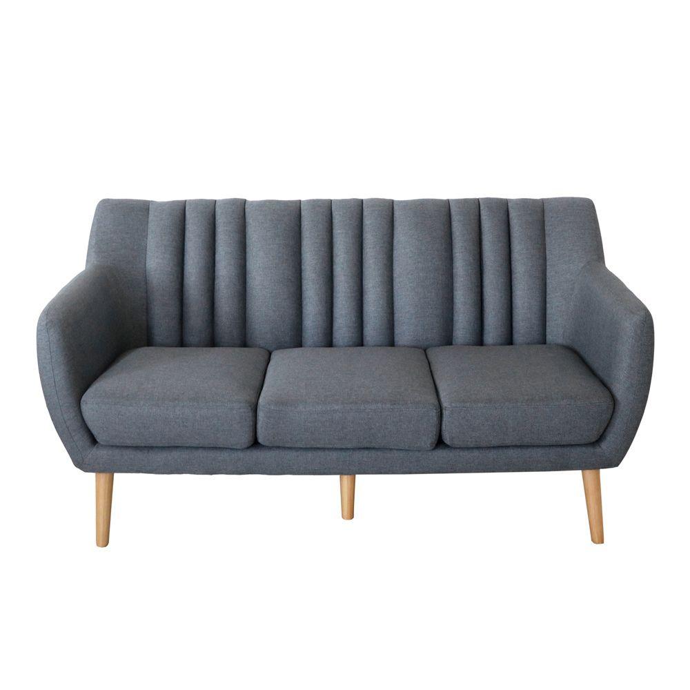 Buy Luxo Ramten 3 Seater Scandinavian Sofa Grey Online Australia Scandinavian Sofas Sofa Bed Australia Sofa Scandinavian Style