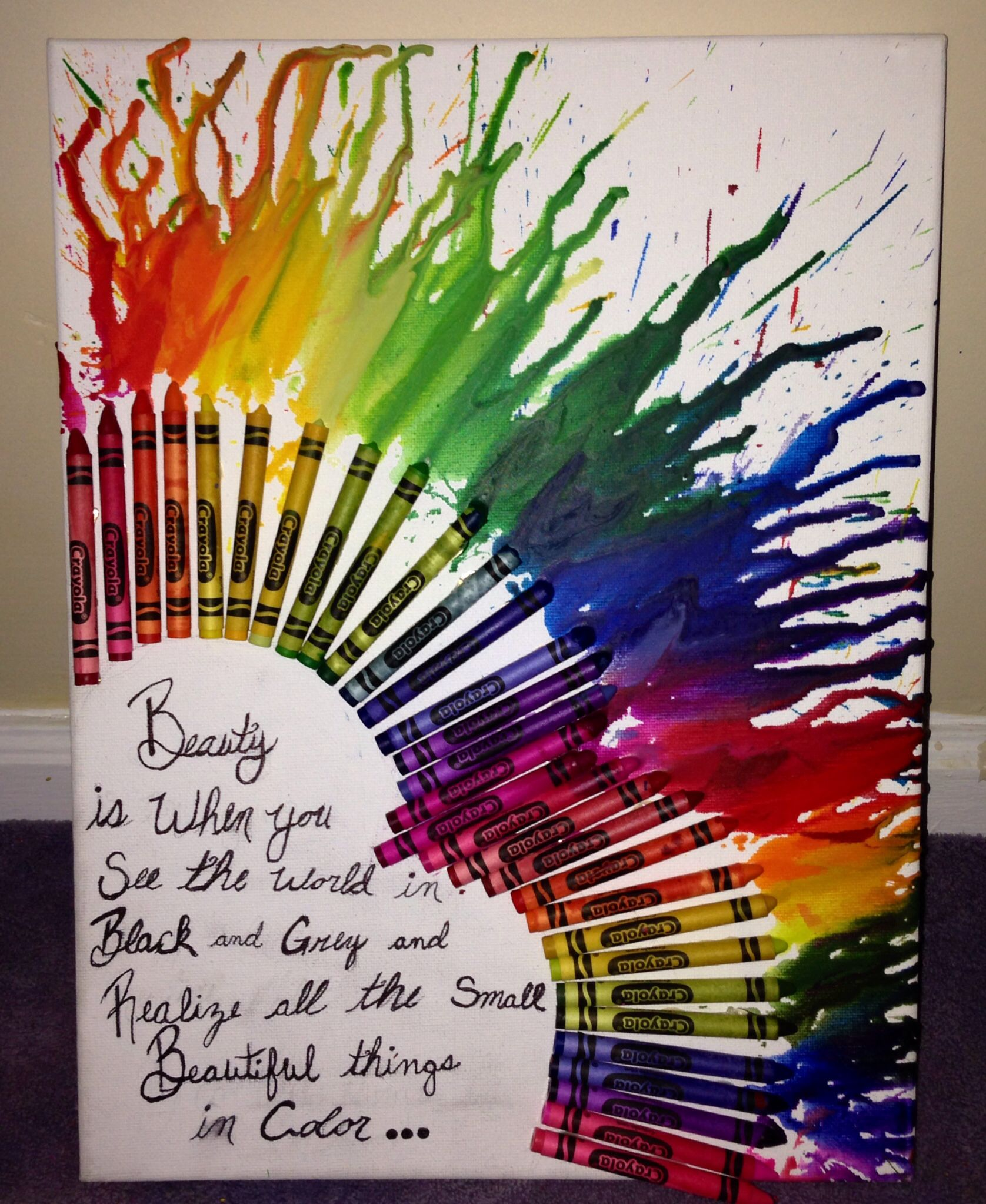 Melting crayon heart with a quote #crayonheart