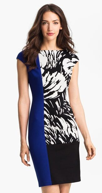 Image detail for -maggy london colorblock print sheath dress usd138