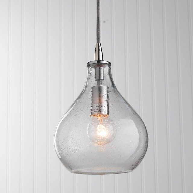 glass pendant lights teardrop hallway lighting | Kitchen ...