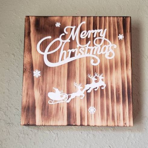 Wood Merry Christmas sign, Rustic wood,Holiday Decor,handmade Christmas sign,Farmhouse Christmas Decor #FarmhouseSign #WoodRustic #ChristmasSign #reindeer #RusticSign #Holiday #MerryChristmas #FarmhouseChristmas #WoodSign #SantaClaus