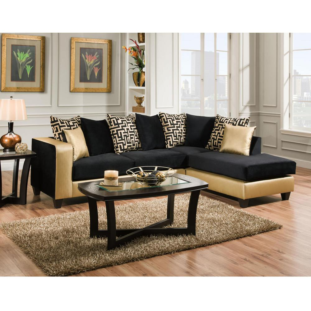 Magnificent Flash Furniture Riverstone Implosion Black Velvet Sectional Pabps2019 Chair Design Images Pabps2019Com