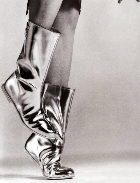 silver boots by Maite Rovira