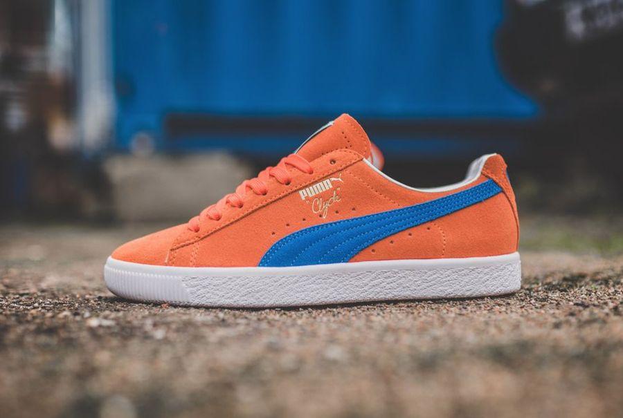 basket puma daim et orange
