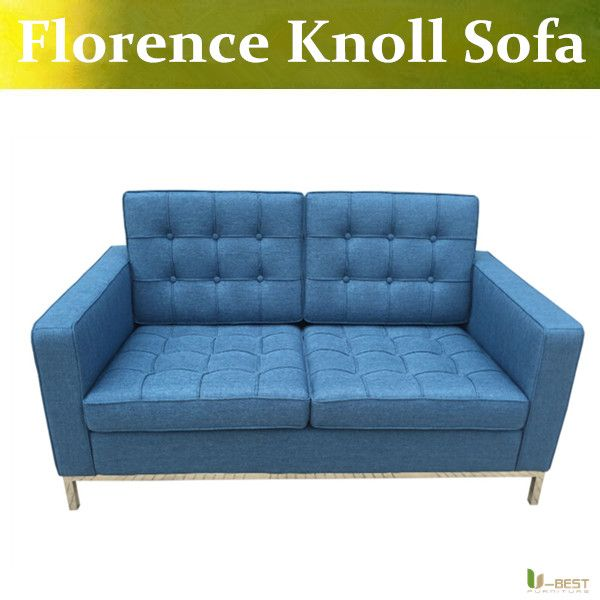 U Best Florence Knoll Style Love Seat Blue Sofa Reproduction Of Fabric Two Seat Sofa Linen Cashmere Sofas Couc Sofa Couch Furniture Couch Furniture Blue Sofa