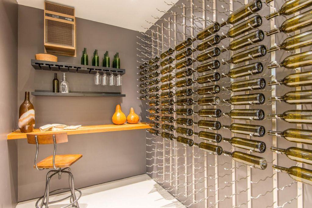 Modern Wine Cellar With Carpet Built In Bookshelf Vintageview 27