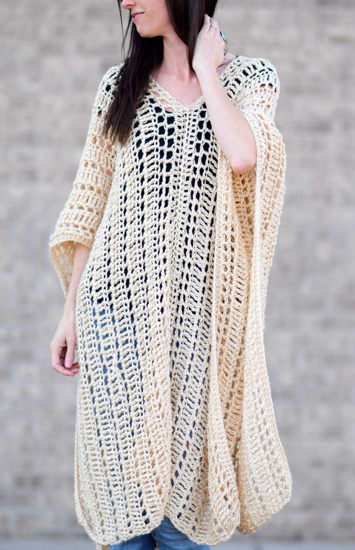 Casablanca Summer Poncho Crochet Pattern   Patrones   Pinterest ...