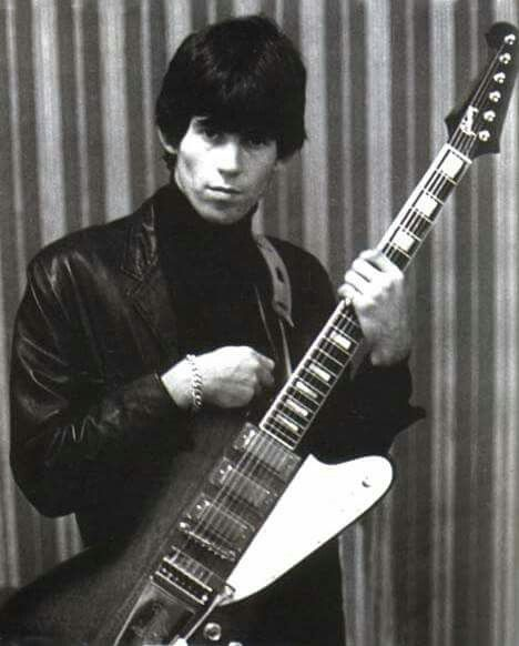 Keith Richards with a Firebird VII. | The Rolling Stones ...