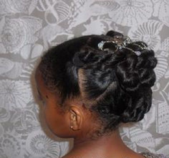 Hairstyles For Girls In Wedding: Little Black Girls Wedding Hair Styles