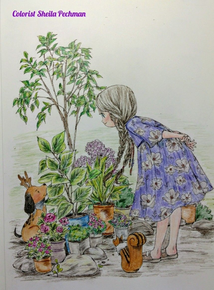 Forest Girl\'s Coloring Book Artist Aeppol Colored by me on ...