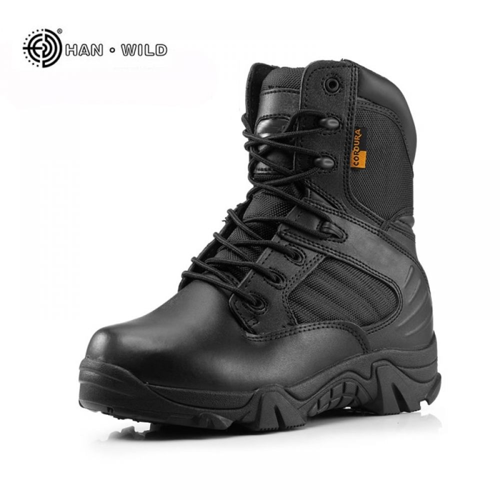 Men Military Tactical Boots Winter Leather Black Special Force Desert Ankle Combat  Boots Safety Work Shoes Arm… | Ankle combat boots, Tactical boots, Military  shoes